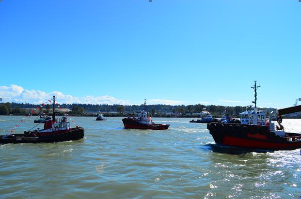 Tugboats on the Fraser River