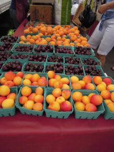 cherries apricots