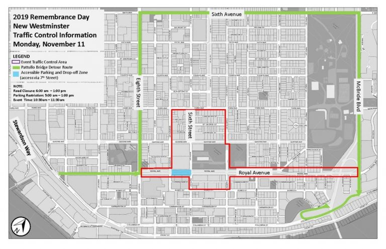 2019 Remembrance Day Ceremonies Map