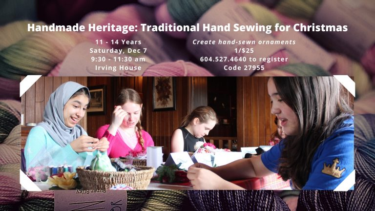 Handmade Heritage Traditional Hand Sewing for Christmas