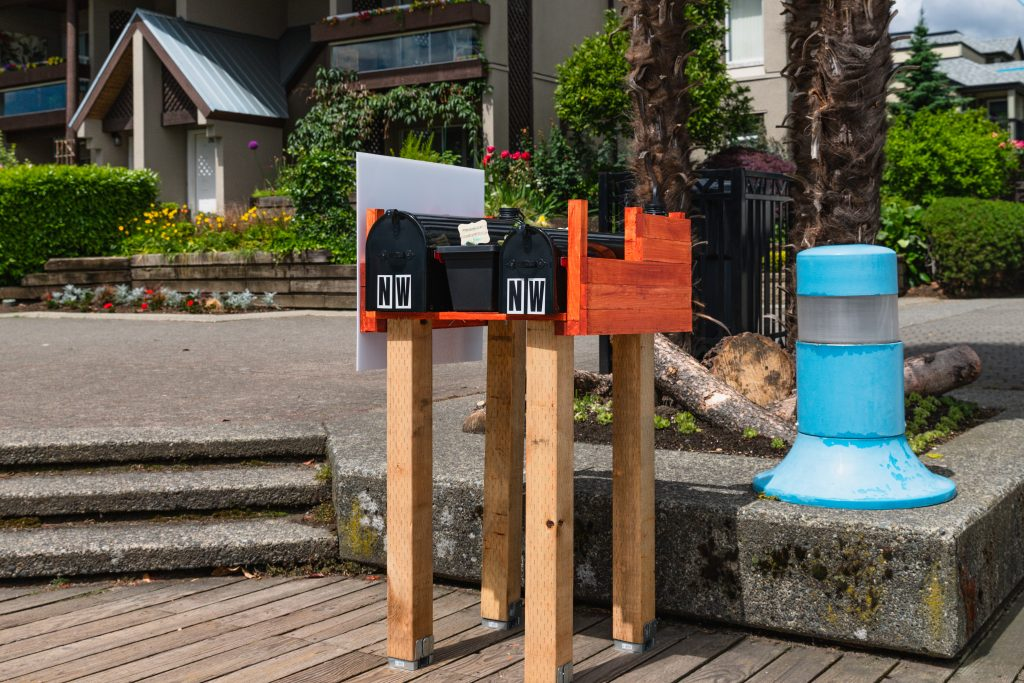 The two mailboxes where locals can participate in the New West Letter Exchange